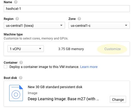 google cloud deep learning
