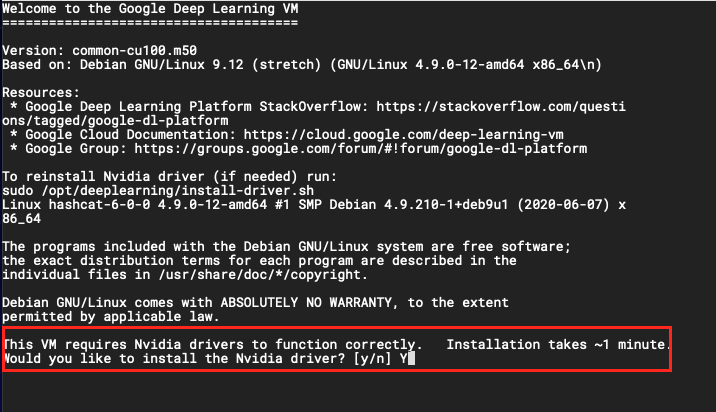 install nvidia drivers cloud instance