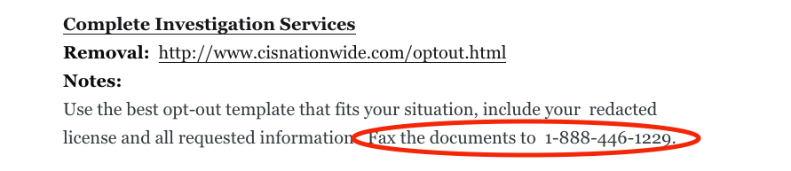 fax opt out free