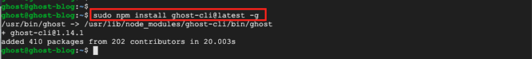 Install Ghost-CLI